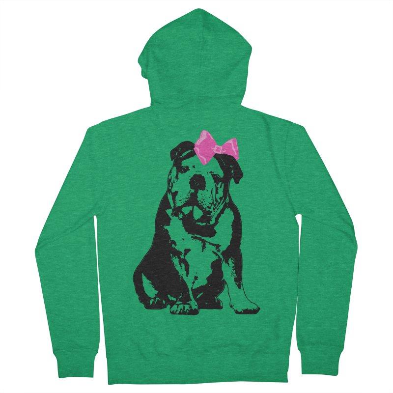 Betty Bulldog Women's Zip-Up Hoody by LittleMissTyne's Artist Shop