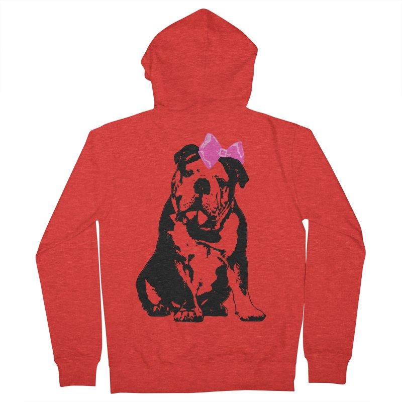 Betty Bulldog Men's Zip-Up Hoody by Little Miss Tyne's Artist Shop
