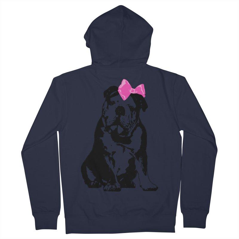Betty Bulldog Men's Zip-Up Hoody by LittleMissTyne's Artist Shop