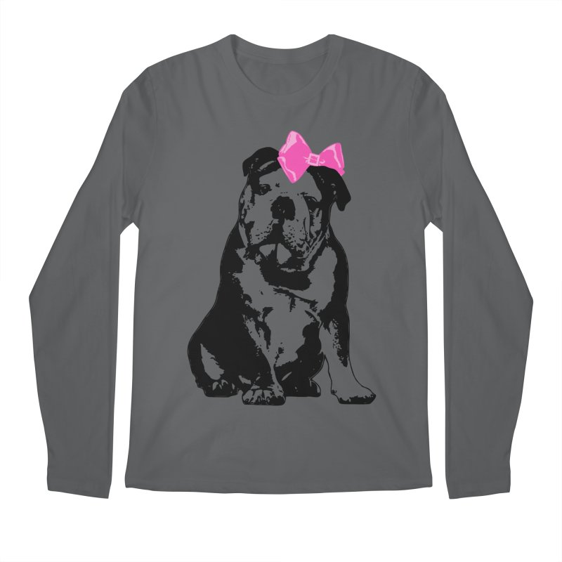 Betty Bulldog Men's Longsleeve T-Shirt by Little Miss Tyne's Artist Shop