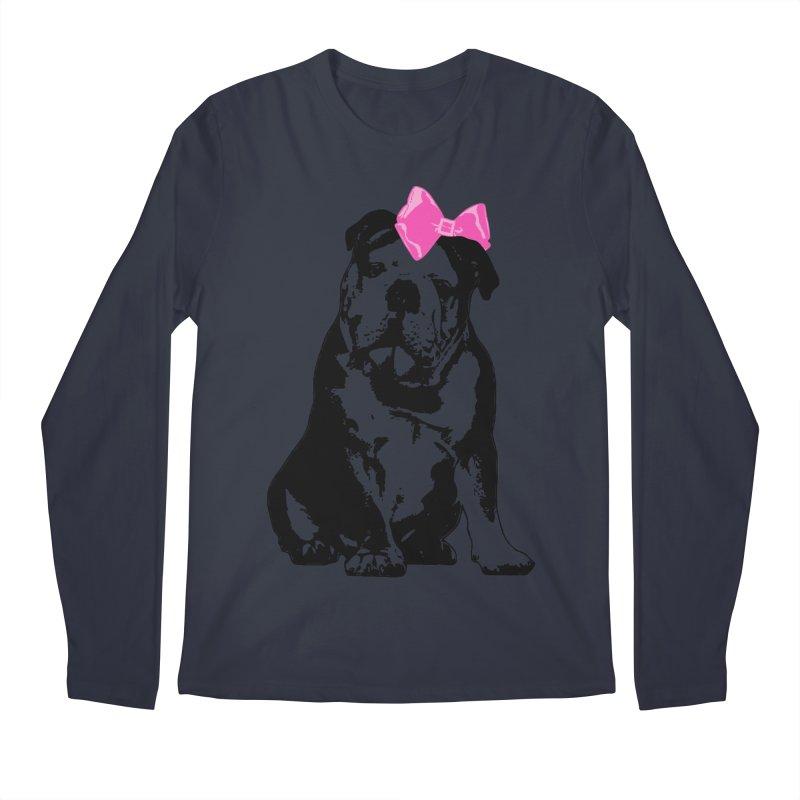 Betty Bulldog Men's Longsleeve T-Shirt by Little Miss Tyne's Artist Shop