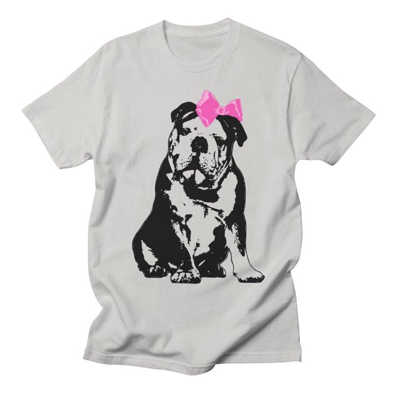 Betty Bulldog Men's T-Shirt by Little Miss Tyne's Artist Shop