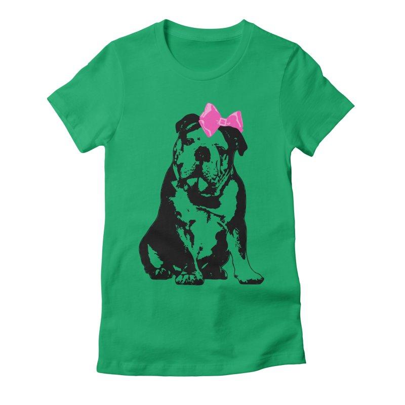 Betty Bulldog Women's T-Shirt by LittleMissTyne's Artist Shop