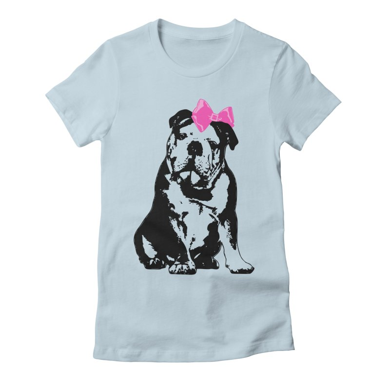 Betty Bulldog Women's T-Shirt by LittleMissTyne's Artist Shop