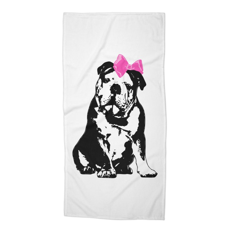 Betty Bulldog Accessories Beach Towel by Little Miss Tyne's Artist Shop