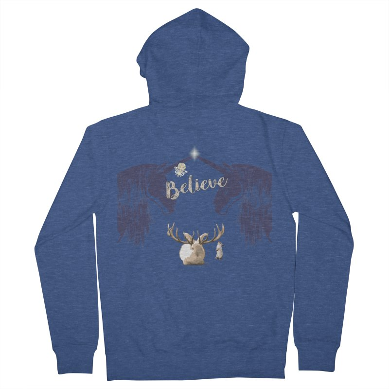Believe In the Mythical - 1 Men's Zip-Up Hoody by LittleMissTyne's Artist Shop