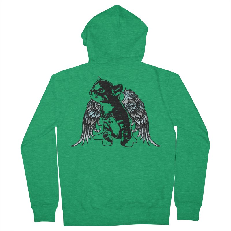 Angel Kitty Men's Zip-Up Hoody by LittleMissTyne's Artist Shop