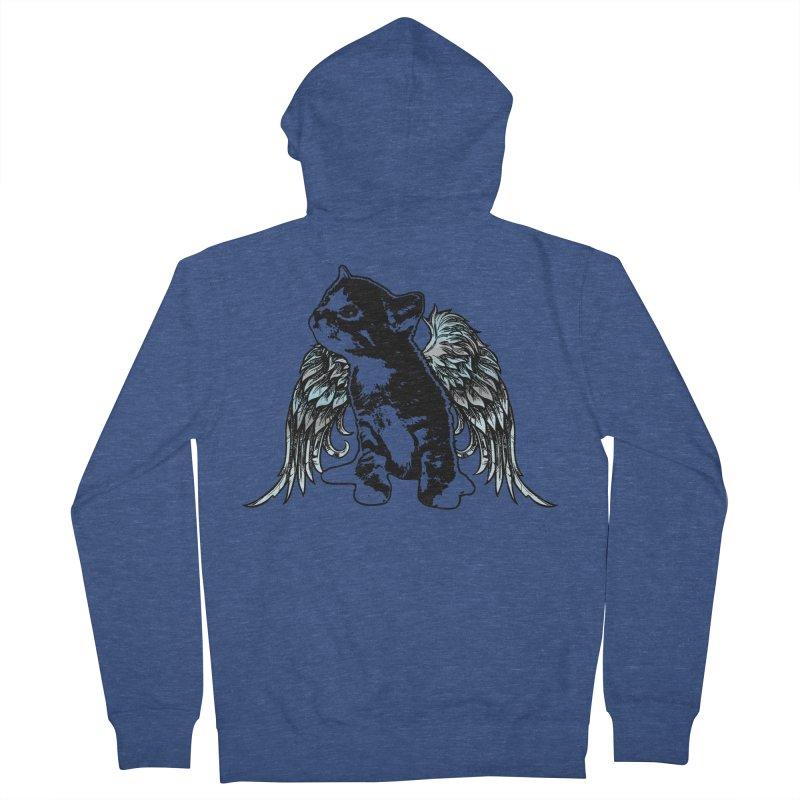 Angel Kitty Men's Zip-Up Hoody by LittleMissTyne's Artist Shop