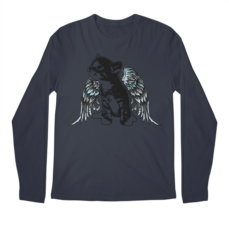 Angel Kitty Men's Regular Longsleeve T-Shirt by LittleMissTyne's Artist Shop