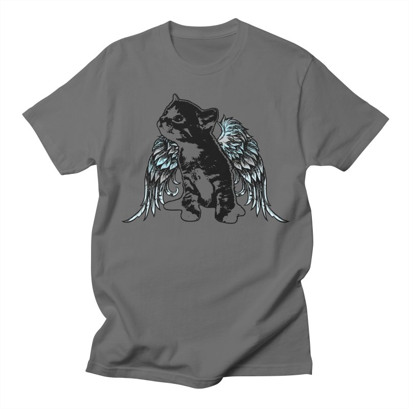 Angel Kitty Men's T-Shirt by LittleMissTyne's Artist Shop