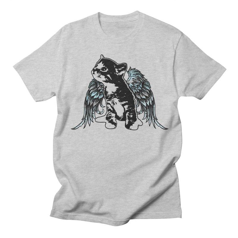 Angel Kitty Men's T-Shirt by LittleMissTyne's Artist Shop