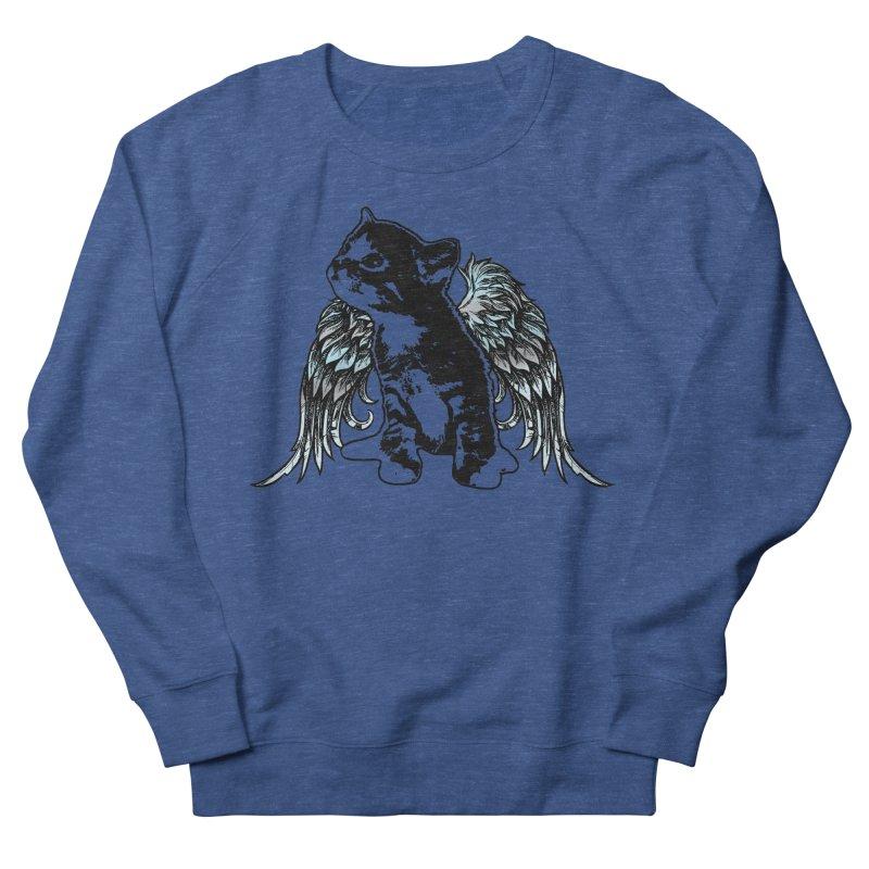 Angel Kitty Men's Sweatshirt by LittleMissTyne's Artist Shop