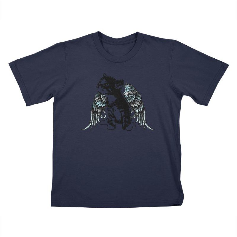 Angel Kitty Kids T-Shirt by LittleMissTyne's Artist Shop