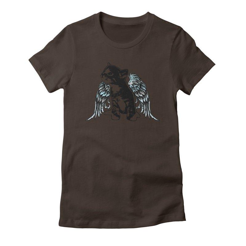 Angel Kitty Women's T-Shirt by LittleMissTyne's Artist Shop