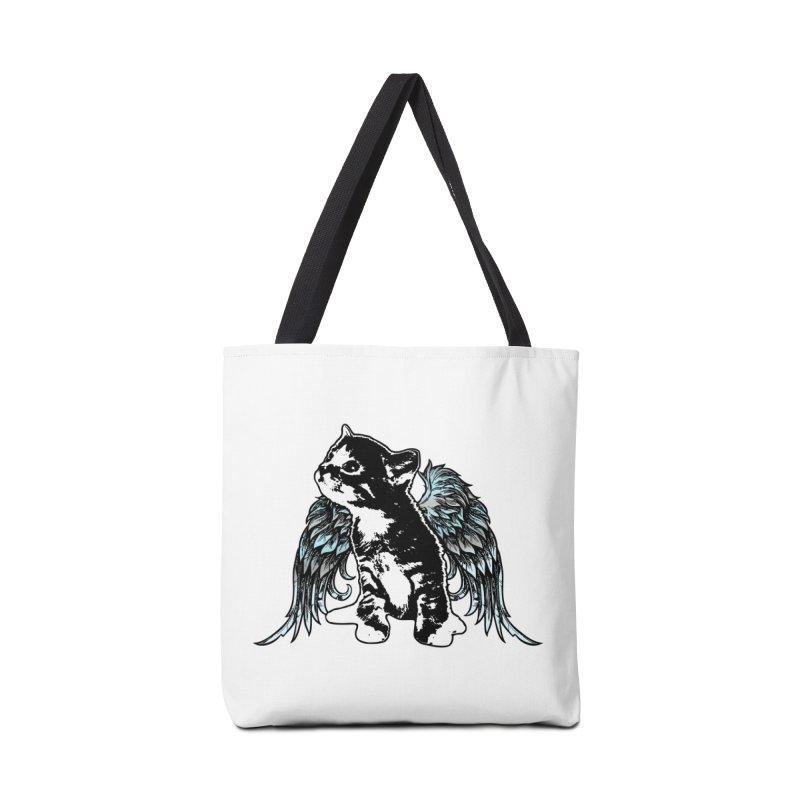 Angel Kitty Accessories Bag by LittleMissTyne's Artist Shop