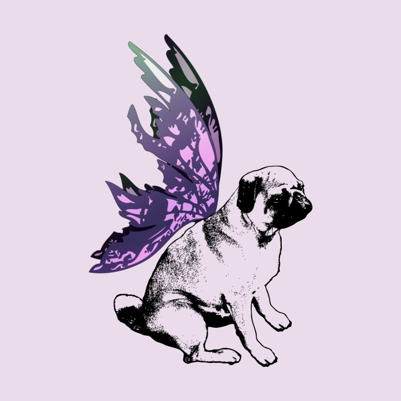 Pug Fairy Life Home Fine Art Print by LittleMissTyne's Artist Shop