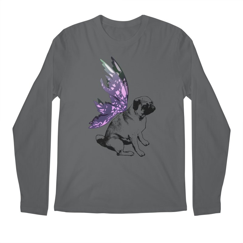 Pug Fairy Life Men's Longsleeve T-Shirt by LittleMissTyne's Artist Shop