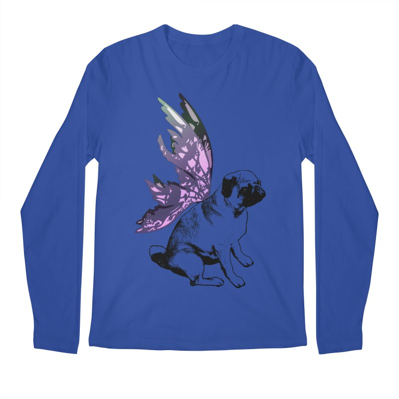 Pug Fairy Life Men's Regular Longsleeve T-Shirt by LittleMissTyne's Artist Shop