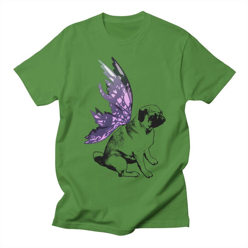 Pug Fairy Life Men's T-Shirt by LittleMissTyne's Artist Shop