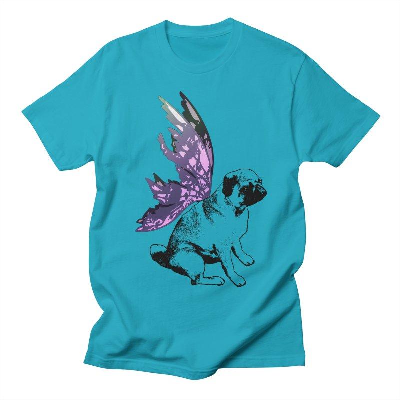 Pug Fairy Life Women's Regular Unisex T-Shirt by LittleMissTyne's Artist Shop