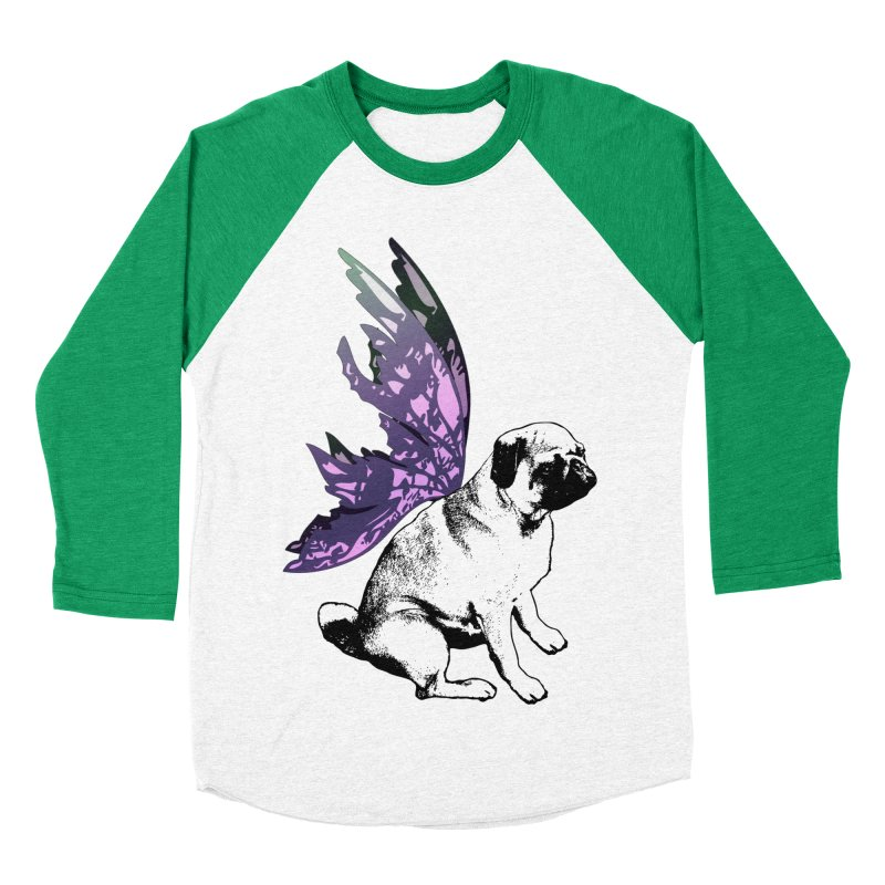 Pug Fairy Life Women's Baseball Triblend Longsleeve T-Shirt by LittleMissTyne's Artist Shop