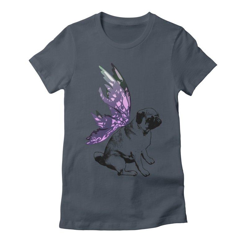 Pug Fairy Life Women's T-Shirt by LittleMissTyne's Artist Shop