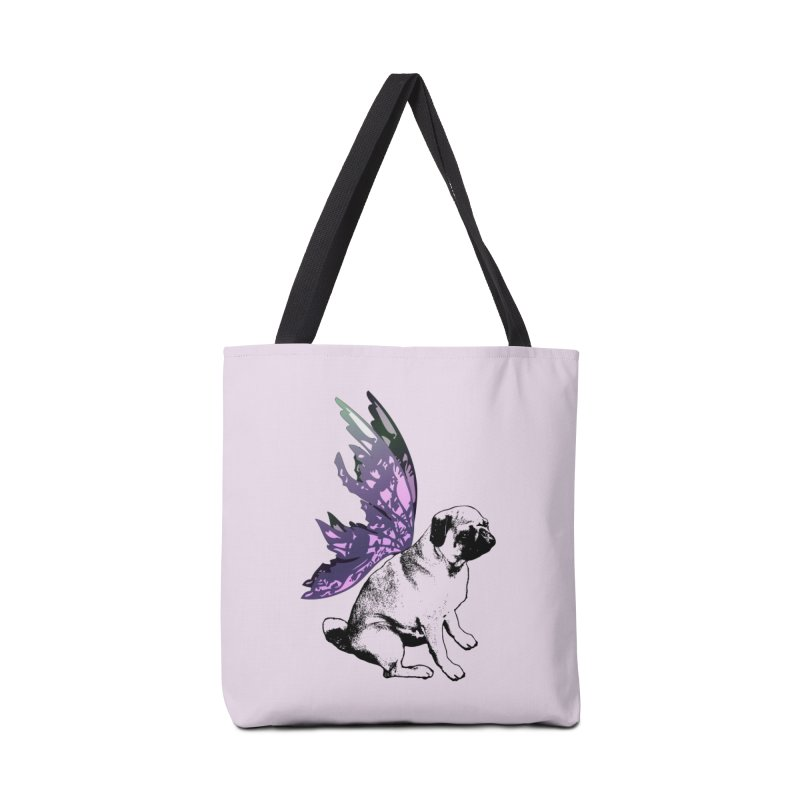 Pug Fairy Life Accessories Bag by LittleMissTyne's Artist Shop