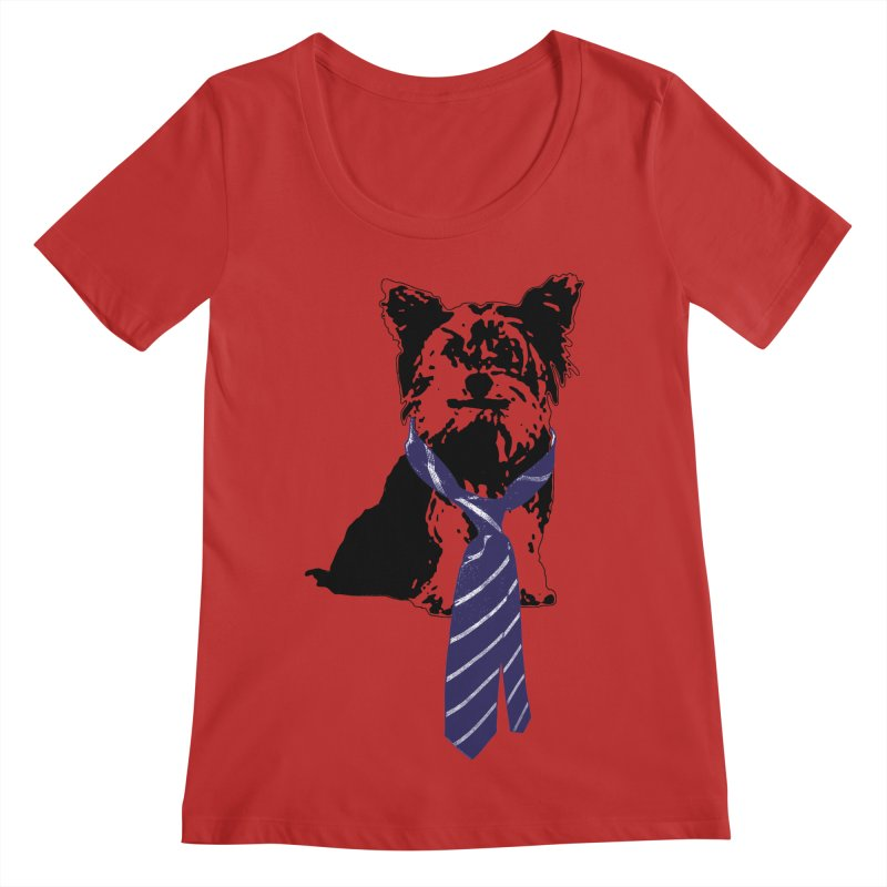 TGIF, Mr. Yorkie Women's Regular Scoop Neck by LittleMissTyne's Artist Shop