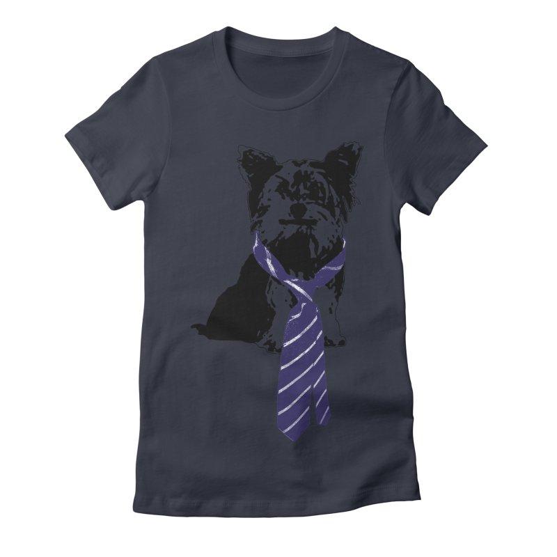 TGIF, Mr. Yorkie Women's Fitted T-Shirt by LittleMissTyne's Artist Shop
