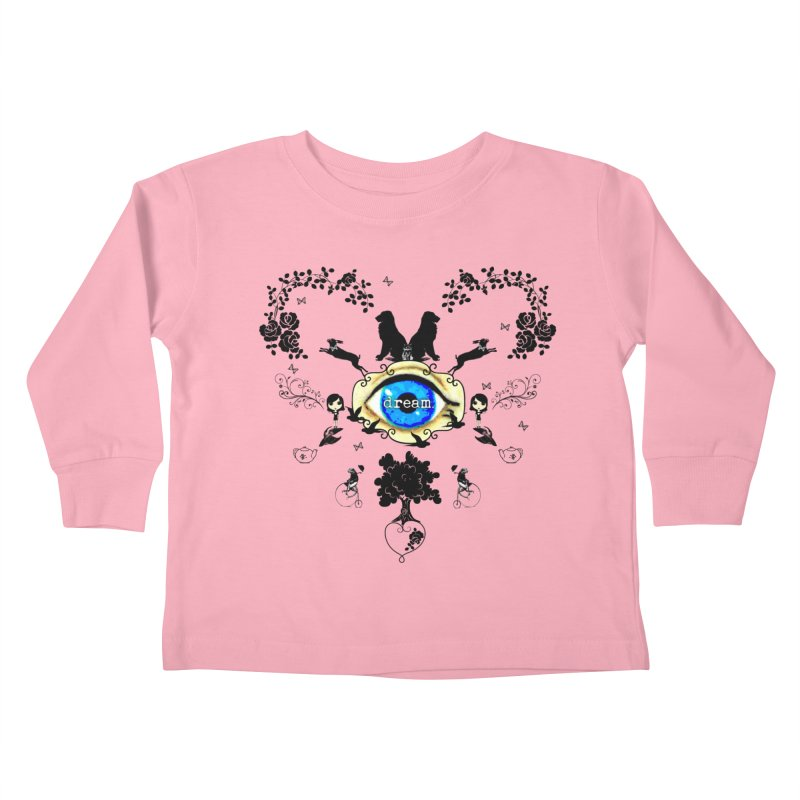 I Dream In Color - Dark Silhouettes Kids Toddler Longsleeve T-Shirt by Little Miss Tyne's Artist Shop