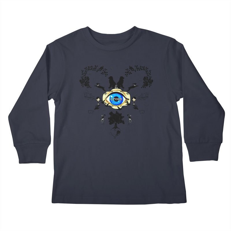 I Dream In Color - Dark Silhouettes Kids Longsleeve T-Shirt by LittleMissTyne's Artist Shop
