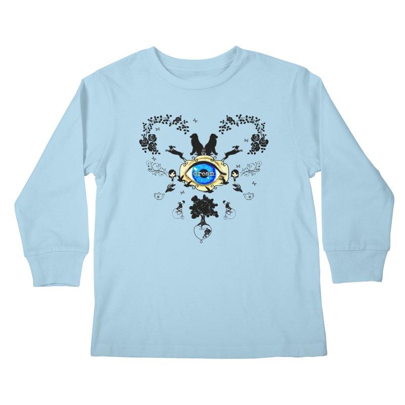 I Dream In Color - Dark Silhouettes Kids Longsleeve T-Shirt by Little Miss Tyne's Artist Shop