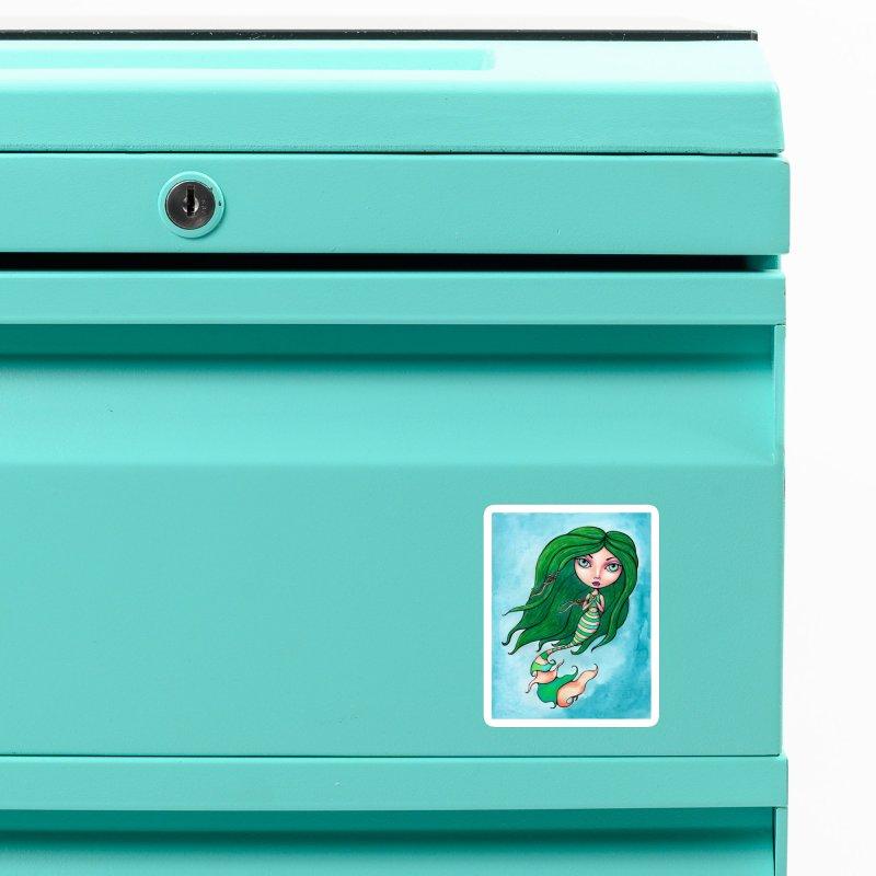 Mermaid Cutie 1 of 4 Accessories Magnet by Little Miss Tyne's Artist Shop