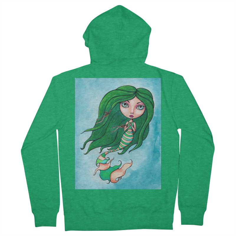 Mermaid Cutie 1 of 4 Women's Zip-Up Hoody by Little Miss Tyne's Artist Shop