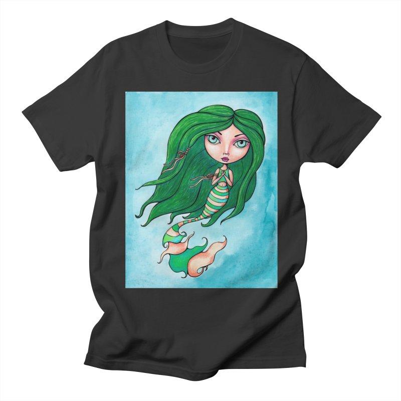 Mermaid Cutie 1 of 4 Men's T-Shirt by LittleMissTyne's Artist Shop