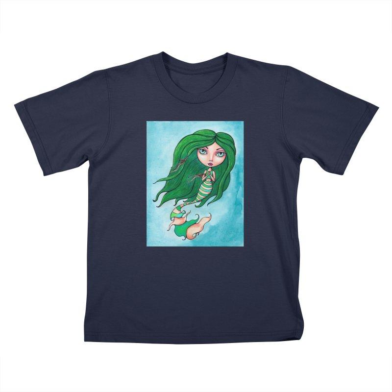 Mermaid Cutie 1 of 4 Kids T-Shirt by Little Miss Tyne's Artist Shop