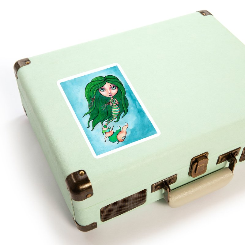 Mermaid Cutie 1 of 4 Accessories Sticker by Little Miss Tyne's Artist Shop