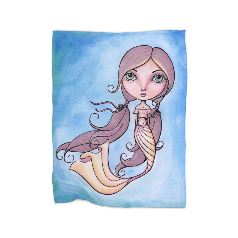 Mermaid Cutie 2 of 4 Home Blanket by Little Miss Tyne's Artist Shop