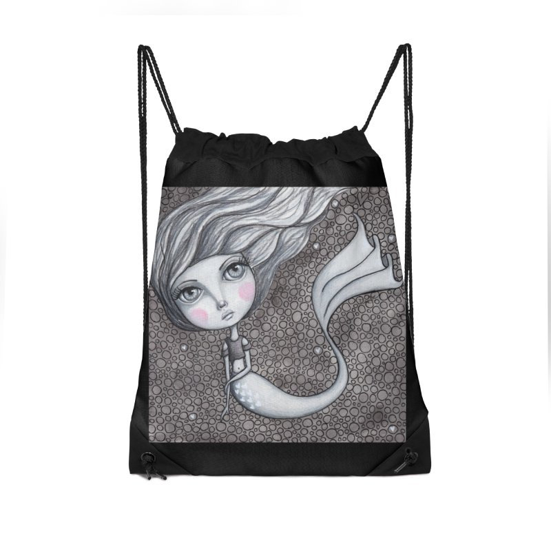 Doodle Mermaid 1 of 4 Accessories Bag by Little Miss Tyne's Artist Shop