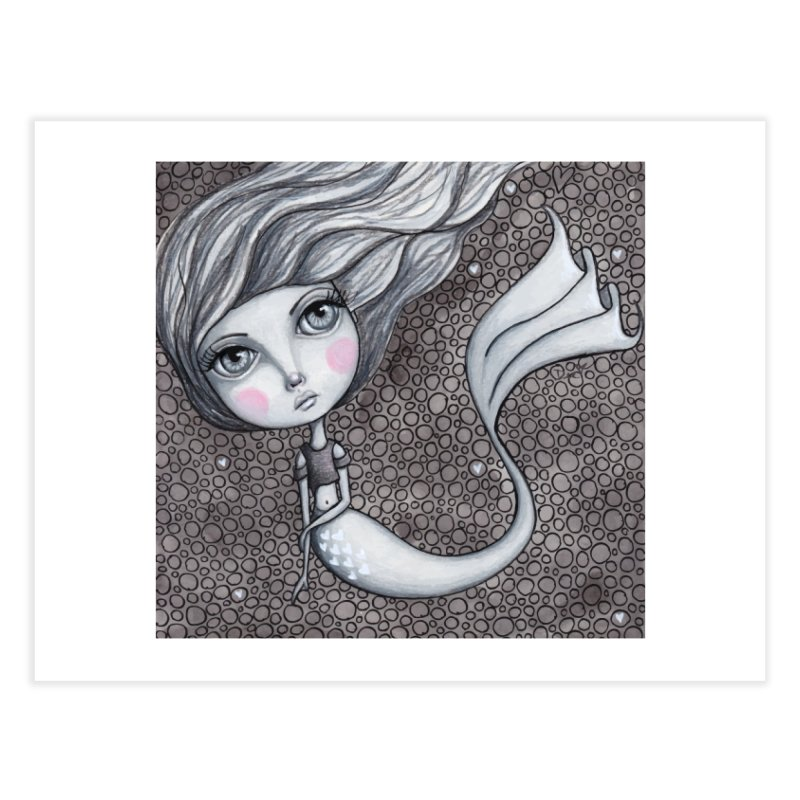 Doodle Mermaid 1 of 4 Home Fine Art Print by Little Miss Tyne's Artist Shop
