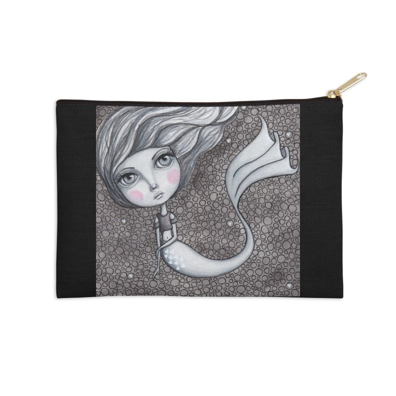 Doodle Mermaid 1 of 4 Accessories Zip Pouch by Little Miss Tyne's Artist Shop
