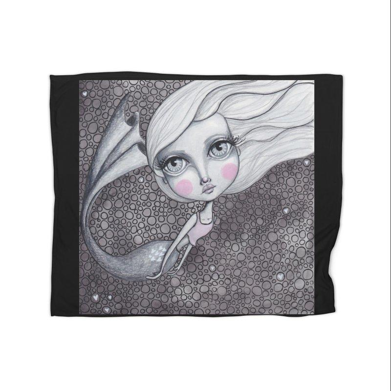 Doodle Mermaid 2 of 4 Home Blanket by Little Miss Tyne's Artist Shop
