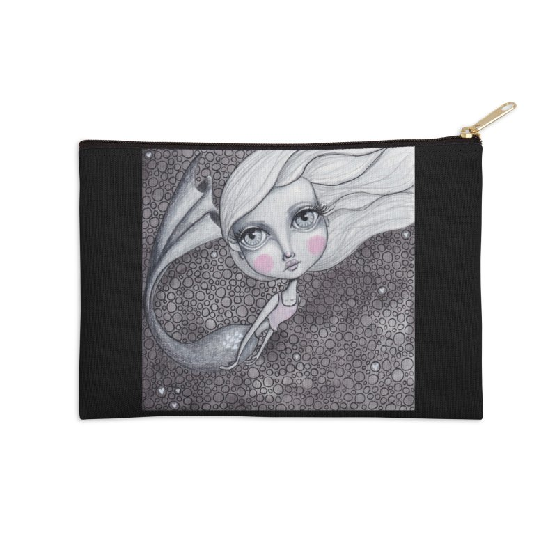 Doodle Mermaid 2 of 4 Accessories Zip Pouch by Little Miss Tyne's Artist Shop