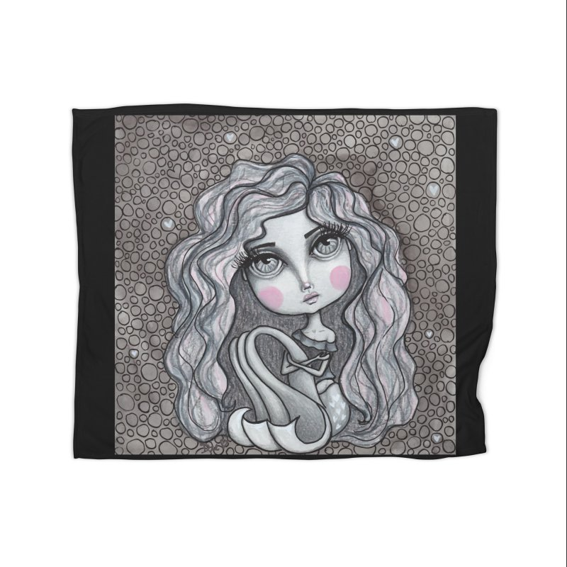 Doodle Mermaid 3 of 4 Home Blanket by Little Miss Tyne's Artist Shop