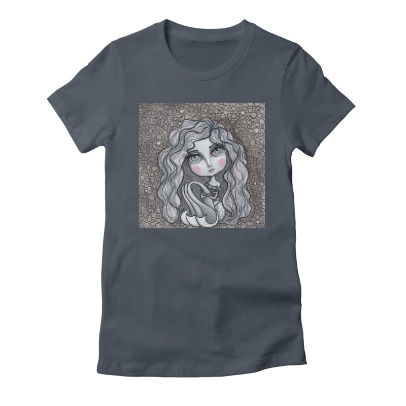 Doodle Mermaid 3 of 4 Women's T-Shirt by Little Miss Tyne's Artist Shop