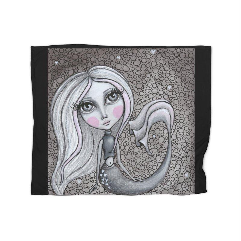 Doodle Mermaid 4 of 4 Home Blanket by Little Miss Tyne's Artist Shop