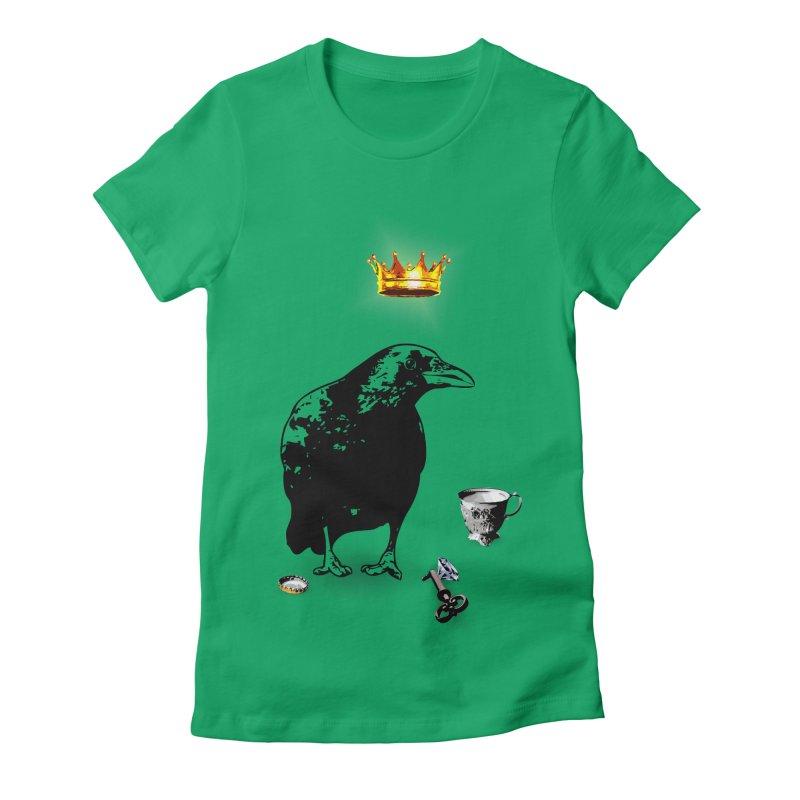 He's A Self-Made Man Women's Fitted T-Shirt by LittleMissTyne's Artist Shop