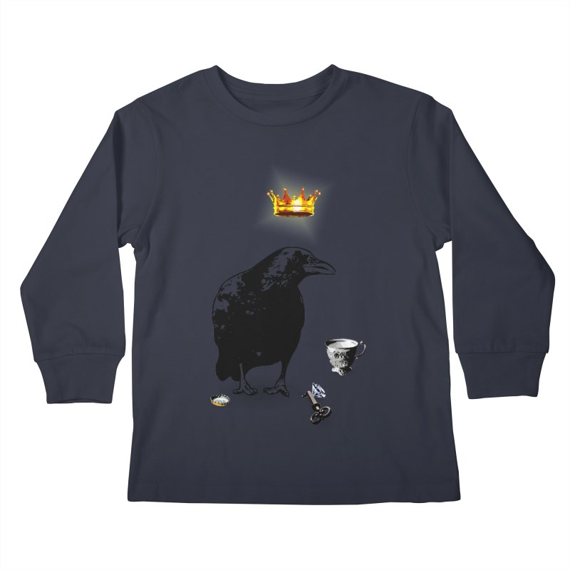 He's A Self-Made Man Kids Longsleeve T-Shirt by LittleMissTyne's Artist Shop