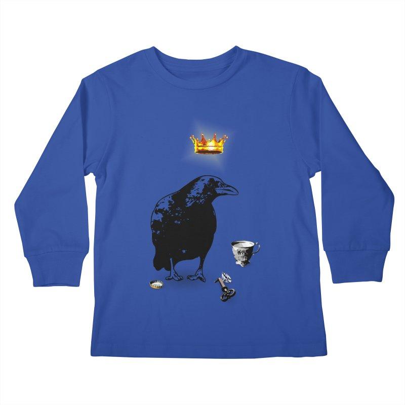 He's A Self-Made Man Kids Longsleeve T-Shirt by LittleMissTyne's Artist Shop