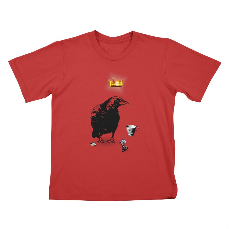 He's A Self-Made Man Kids T-Shirt by Little Miss Tyne's Artist Shop